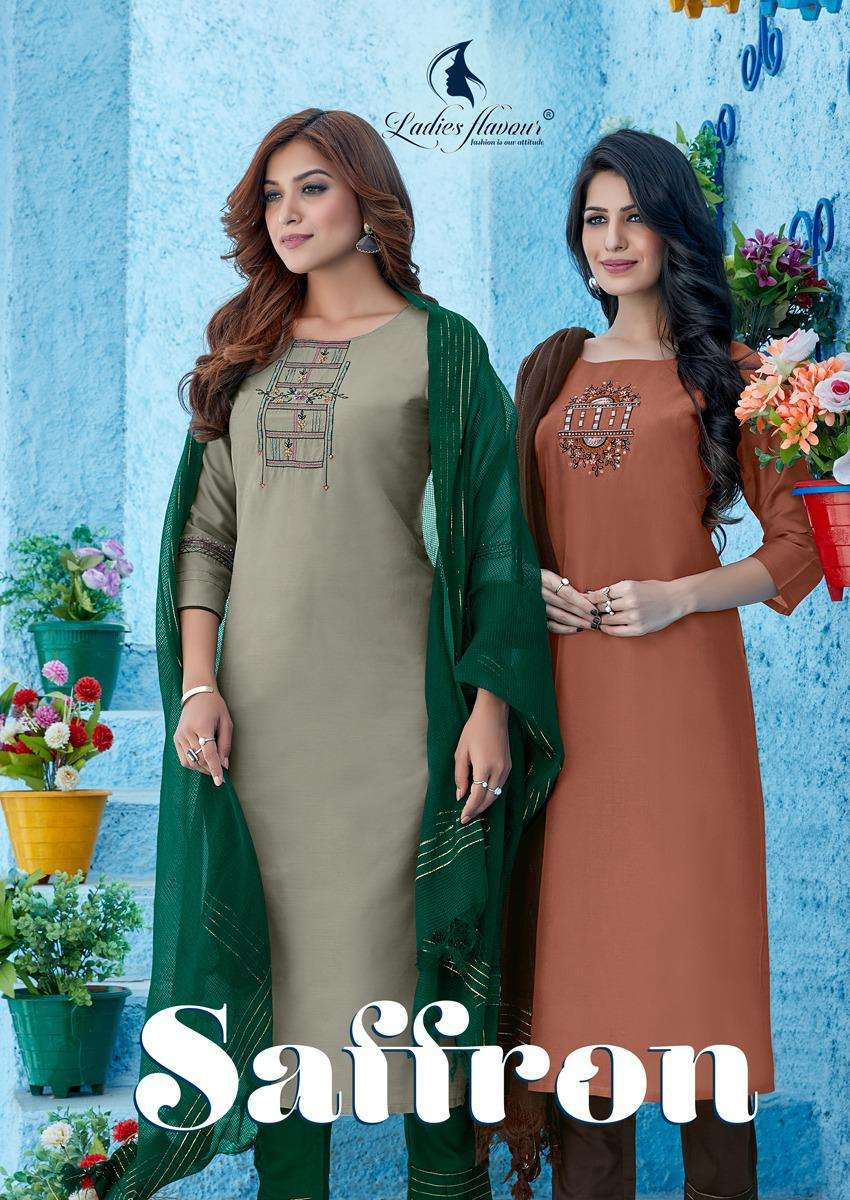 Ambica Fashion Saffron 36001 Series Designer Wholesale Sarees Supplier