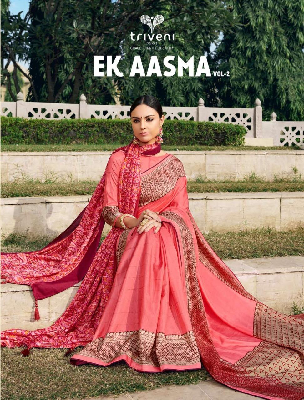 Esta Design Aasma Vol 2 Georgette Printed Sarees Supplier Wholesaler In Surat