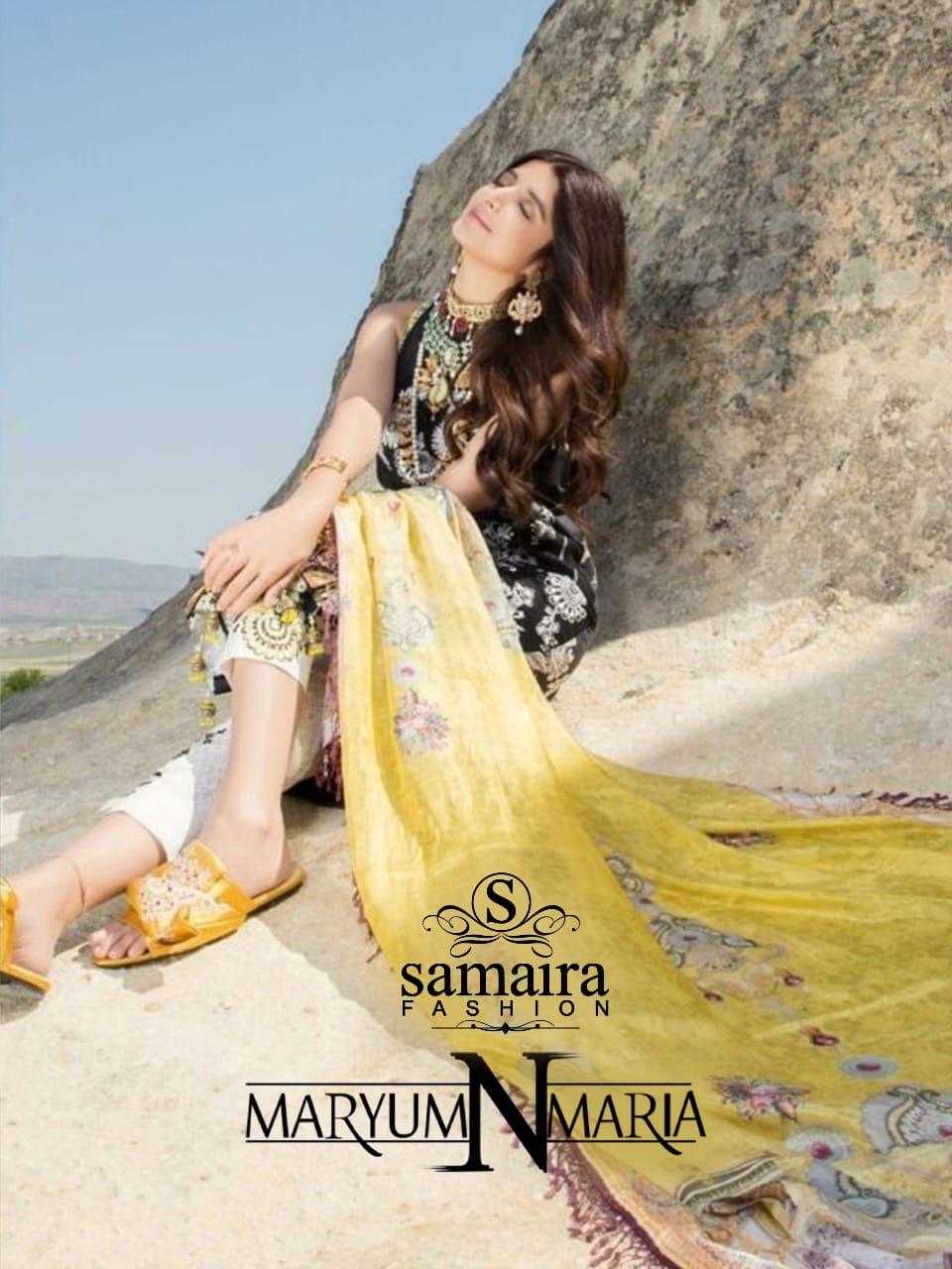Samaira Fashion Maryum Mariya Pure Cotton Pakistani Suit Concept