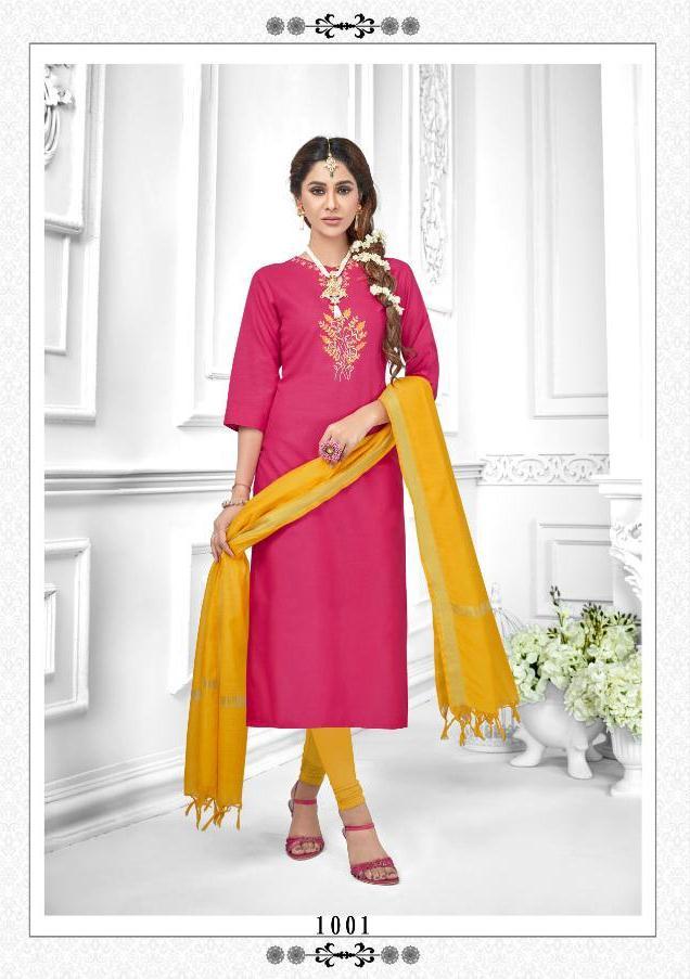 Avc Launch Tara Heavy Cotton Daily Wear Salwar Suit Wholesale Rate