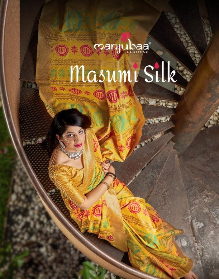 Manjubaa Clothing Launch Masumi Silk Traditional Wear Banarasi Silk Saree