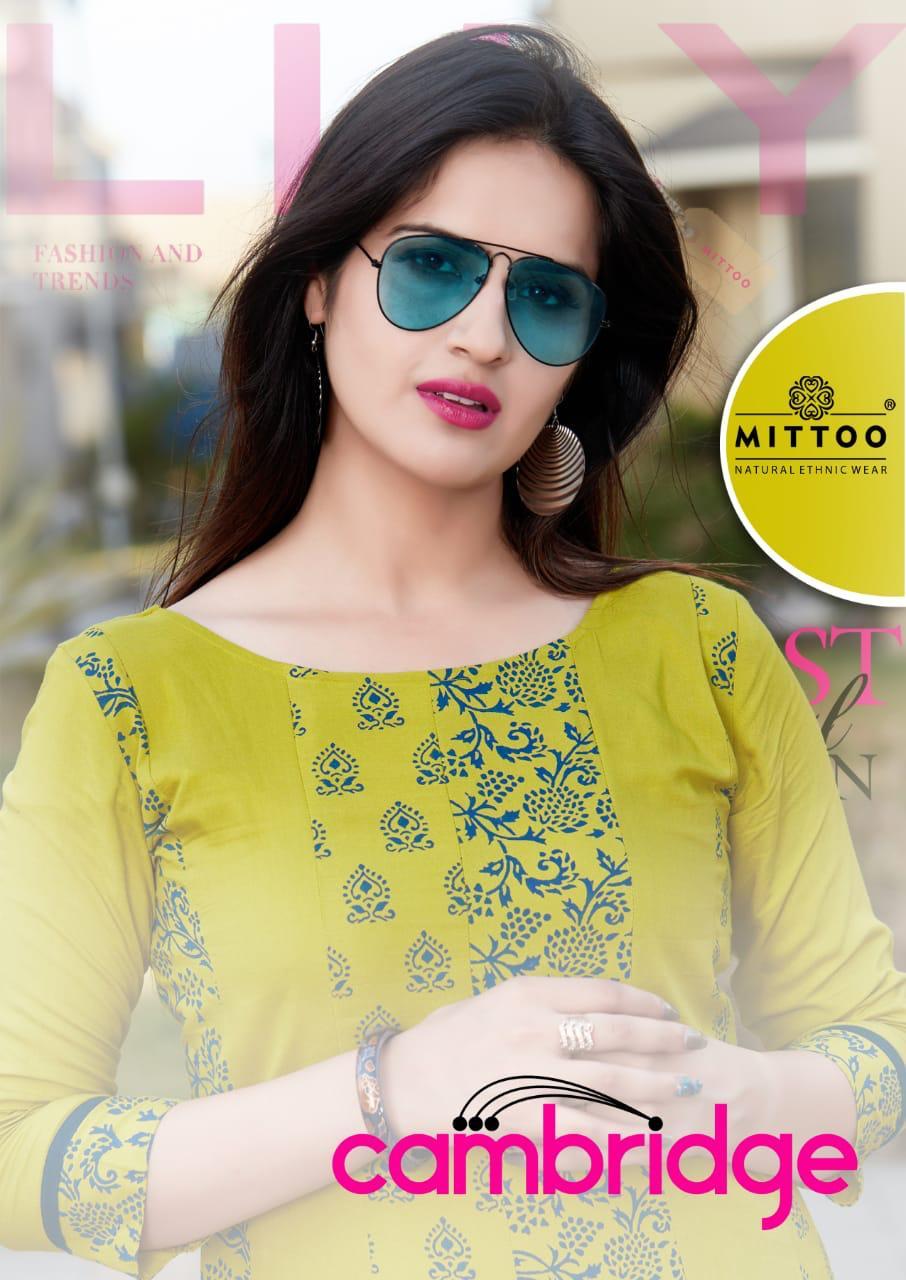 Mittoo Cambridge Pure Mal Cotton Stylish Kurti Online Trader