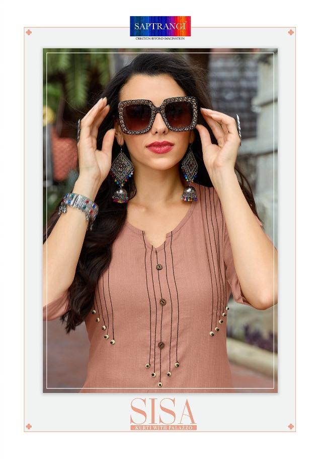 Saptrangi Present Sisa Cotton Kurti With Plazzo Online Dealer In Surat