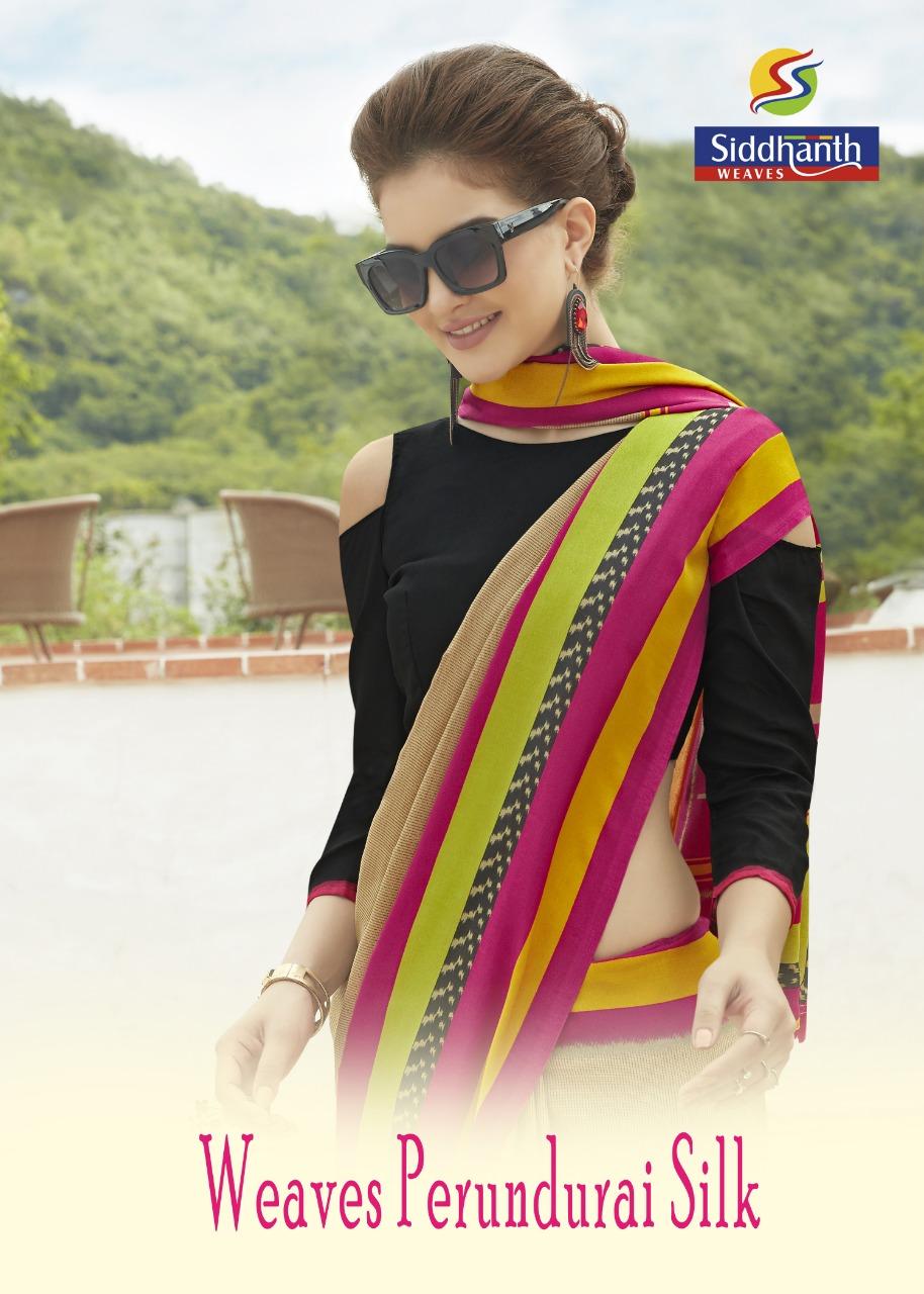 Siddhanth Weaves Perundurai Silk Ethnic Wear Sarees Authorized Supplier