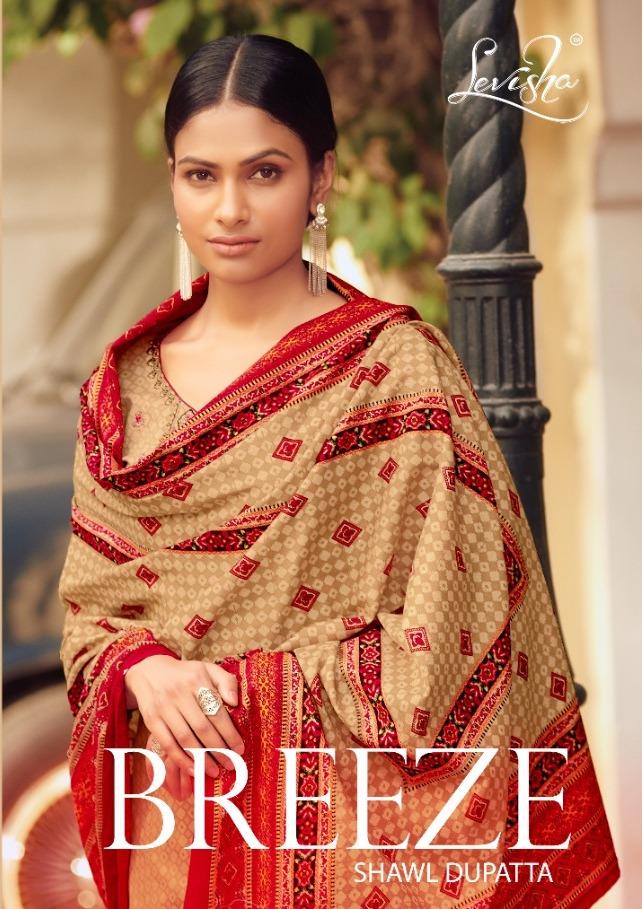 Levisha Present Breeze Pashmina Printed Embroidery Work Salwar Kameez