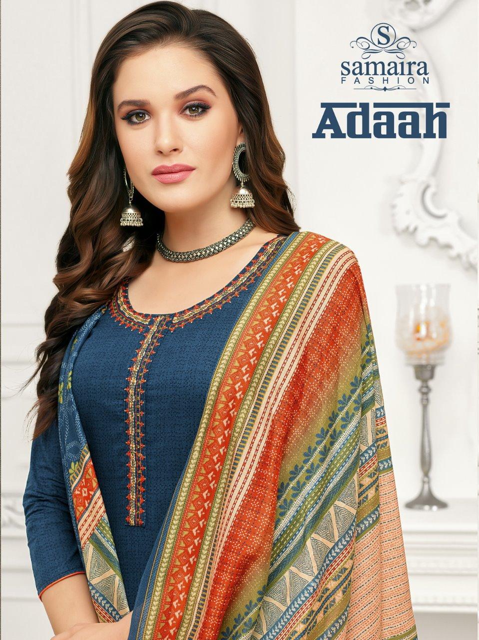 Samaira Fashion Adaah Pure Camric Cotton Digital Print Salwar Suit Supplier