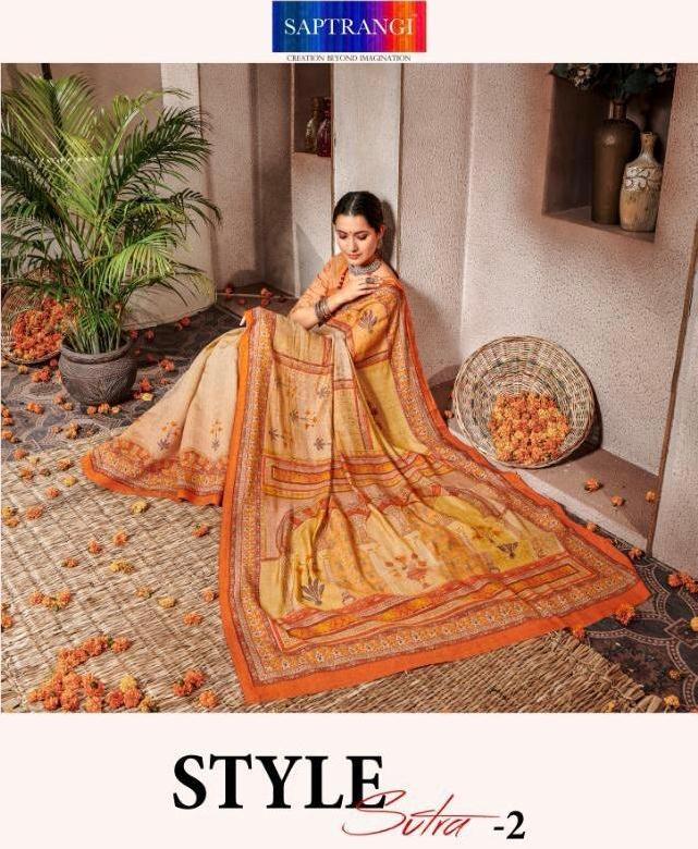 Saptrangi Style Sutra Vol 2 Banarasi Silk 1701-1711 Series Digital Print Saree Wholesaler