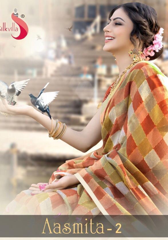 Silk Villa Aasmita Vol 2 Light Pashmina Printed Casual Wear Saree Online Supplier