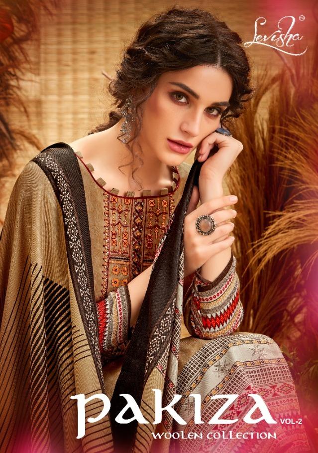 Levisha Pakiza Vol 2 Pashmina Print With Embroidery Work Salwar Kameez