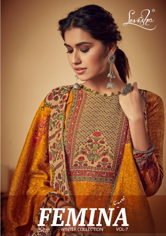 Levisha Present Femina Vol 7 Pashmina Printed Casual Dress Materials