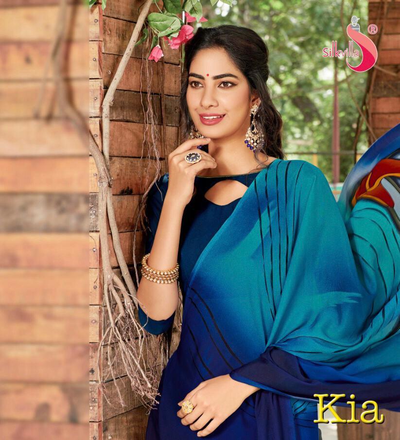 Silkvilla Kia Pure Crepe Colorful Printed Saris Buy Online Shopping