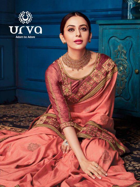 Urva 1001-1014 Series Rakul Preet Singh Rich Heavy Indian Festive Saris Catalog