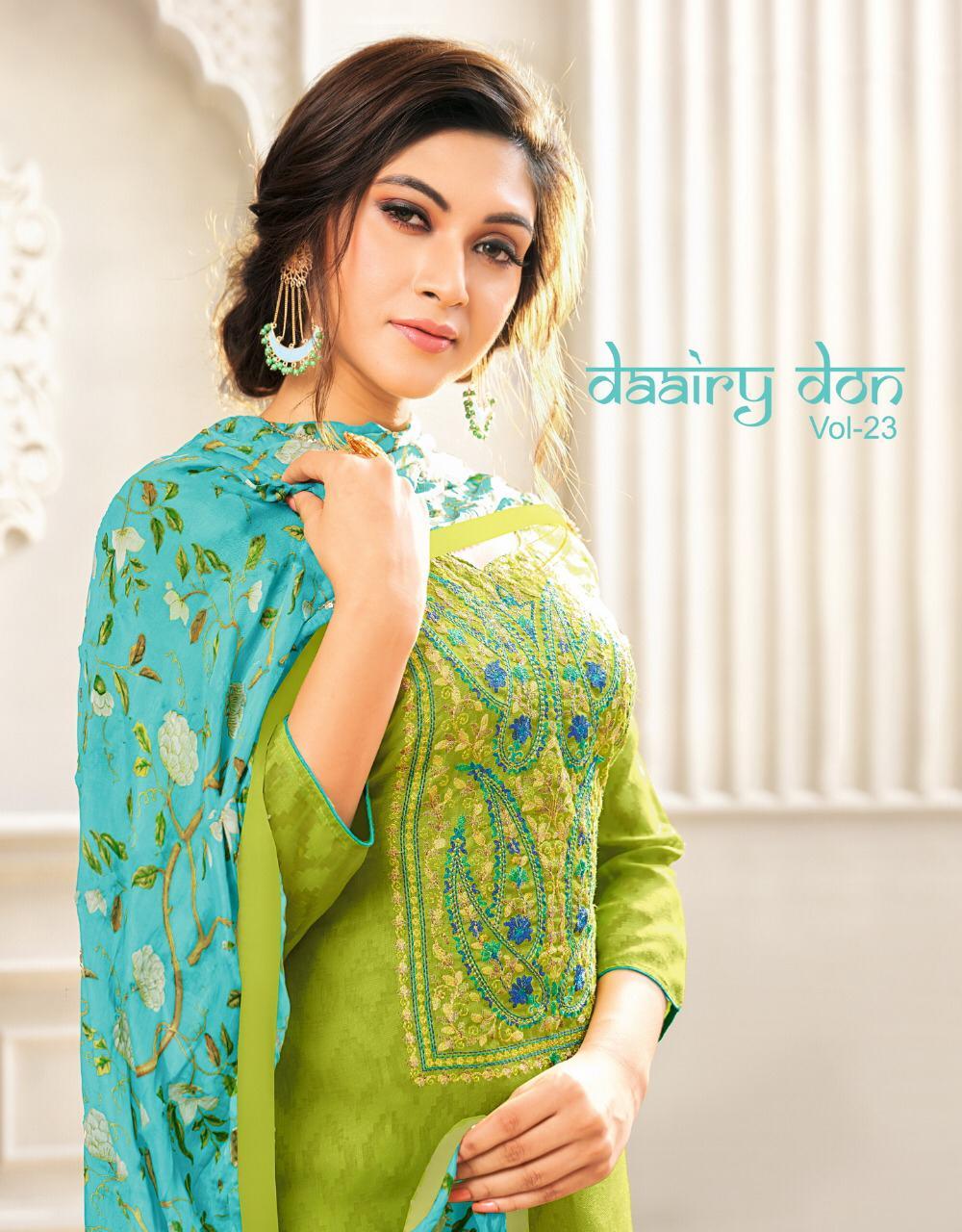 Kapil Trendz Dairy Don Vol 23 Jacquard Cotton Daily Wear Salwar Suit Seller