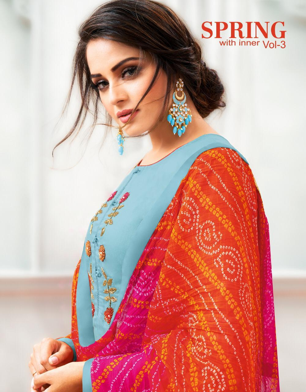 Kapil Trendz Present Spring Vol 3 Cotton Modal Formal Wear Salwar Suit Supplier