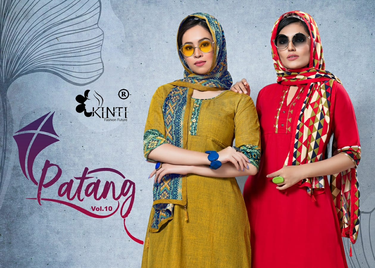Kinti Launch Patang Vol 10 Kurti With Stroll Collection At Cheapest Rate