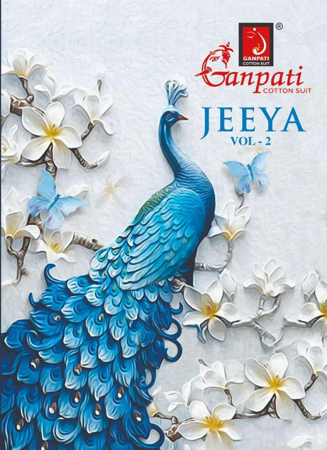 Ganpati Jeeya Vol 2 Cotton Unstitch Dress Materials Wholesaler