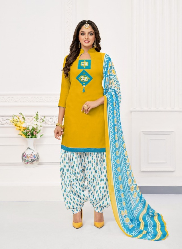 Kapil Tex Fab Novelty Soft Slub Designer Patiyala Salwar Kameez