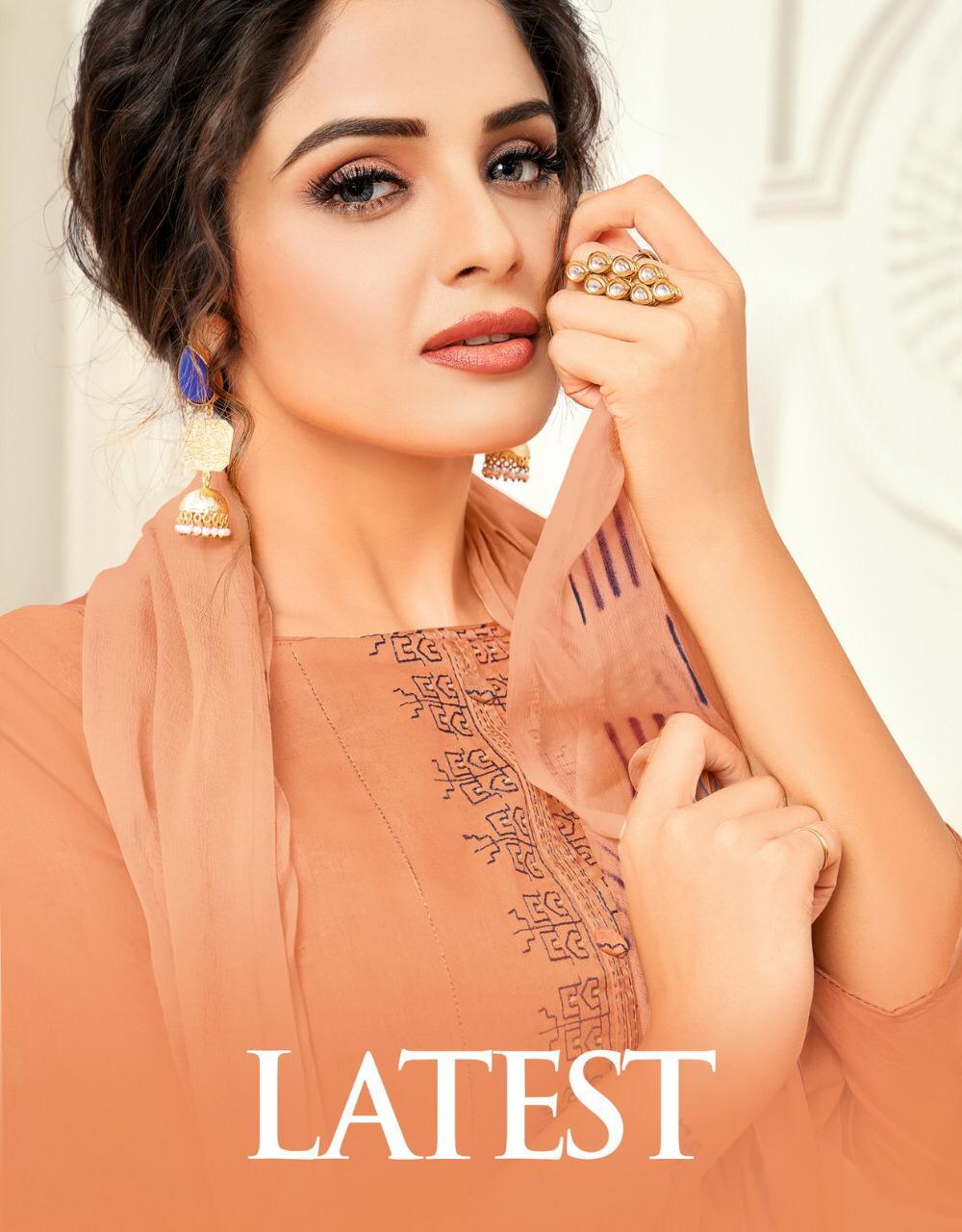 Kapil Trendz Present Latest Cotton Satin Casual Wear Dress Materials