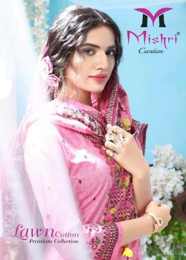 Mishri Creation Lawn Cotton Vol 1 Karachi Style Lawn Cotton Dress Materials