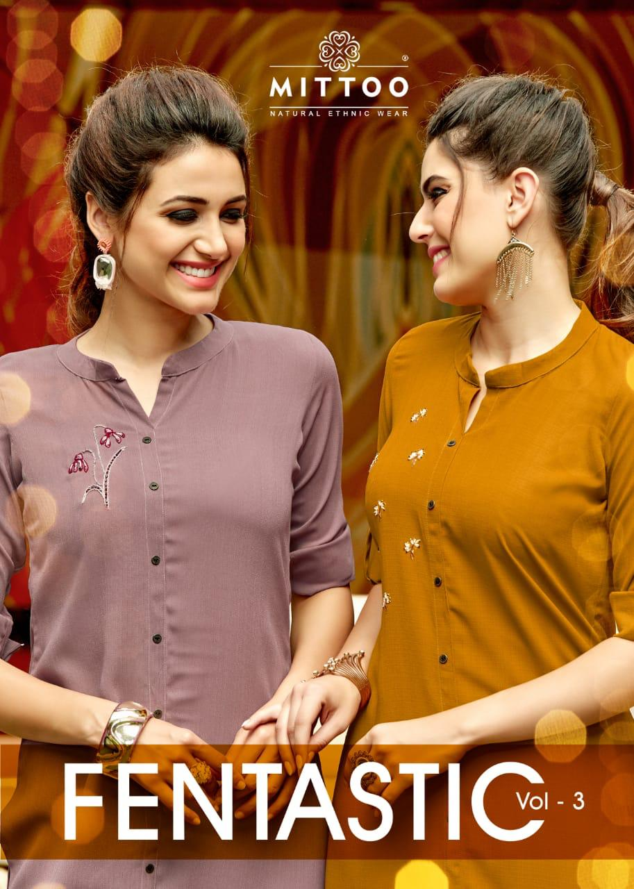 Mittoo Fentastic Vol 3 Simple Readymade Long Kurtis Online Sale In India