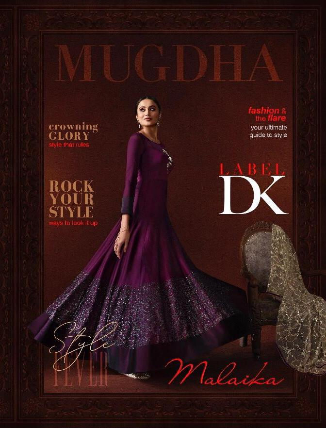 Mugdha Malaika 11050-11053 Party Wear Long Gown With Dupatta Collection