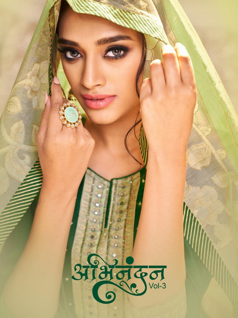 Samaira Abhinandan Vol 3 Jam Silk Work Dress Materials Designs Seller