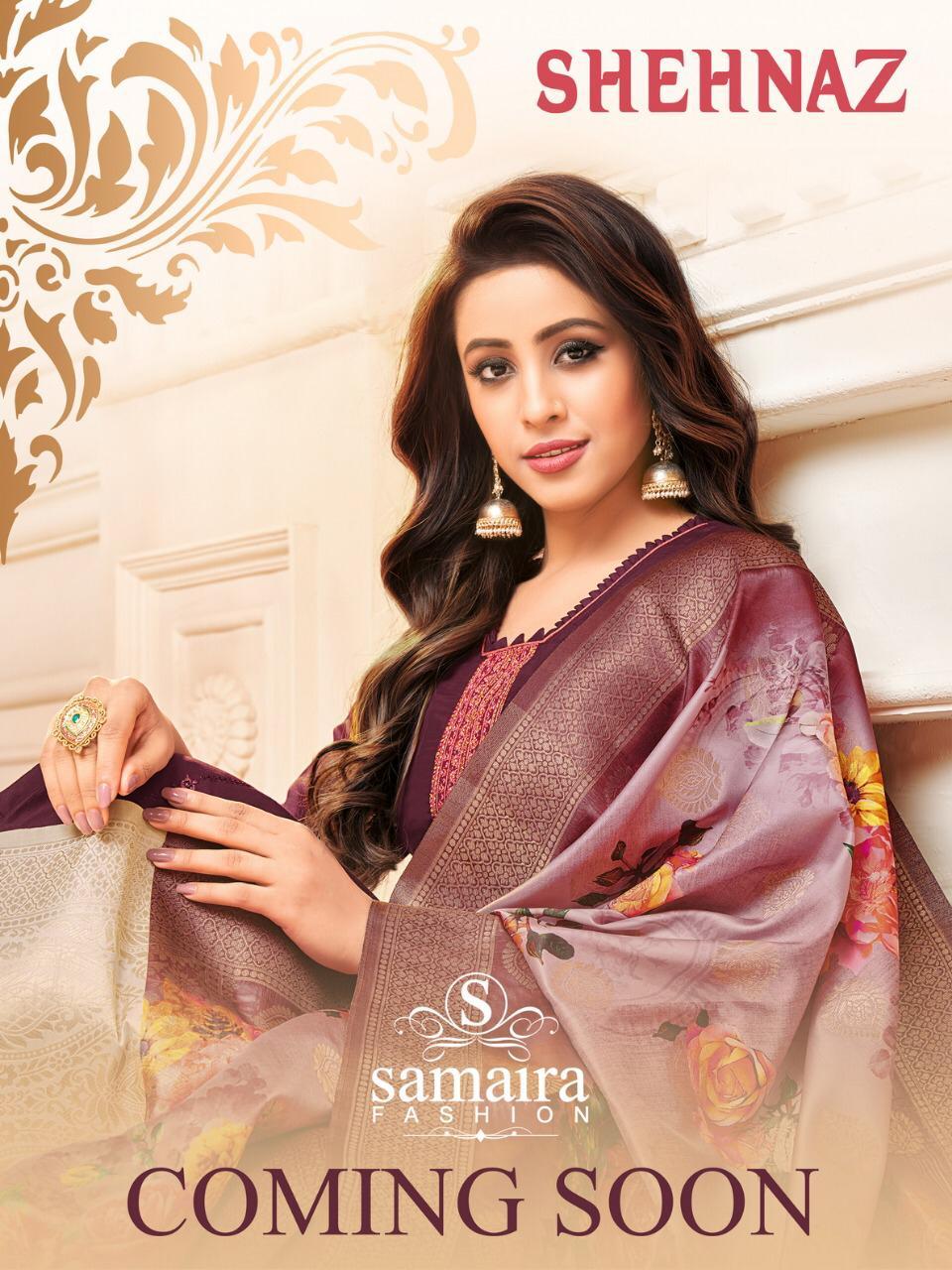 Samaira Present Shehnaz Maslin Silk With Embroidery Dress Collection