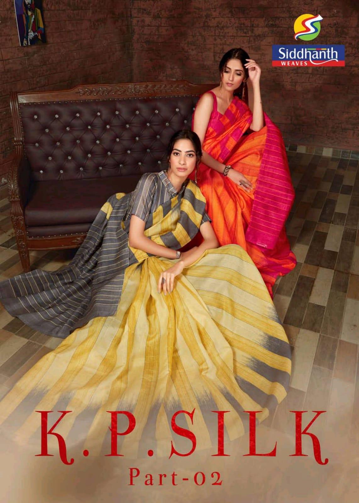 Siddhanth Weaves K P Silk Vol 2 Cotton Casual Wear Saris Authorized Supplier