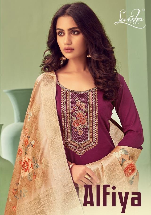 Alfiya By Levisha Jam Silk Embroidery Suits And Salwar Kameez