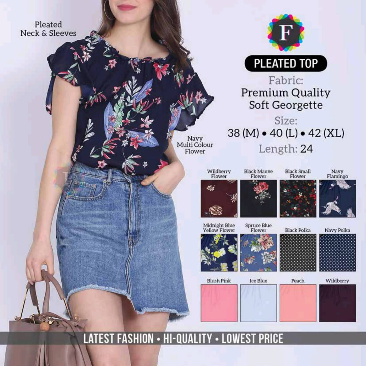 Buy Western Frill Top Flared Top Printed Top Glamorous Top Knotted Dress Collection At Wholesaler Price