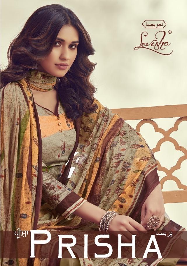Levisha Prisha Jam Silk Printed Handwork Dress Materials