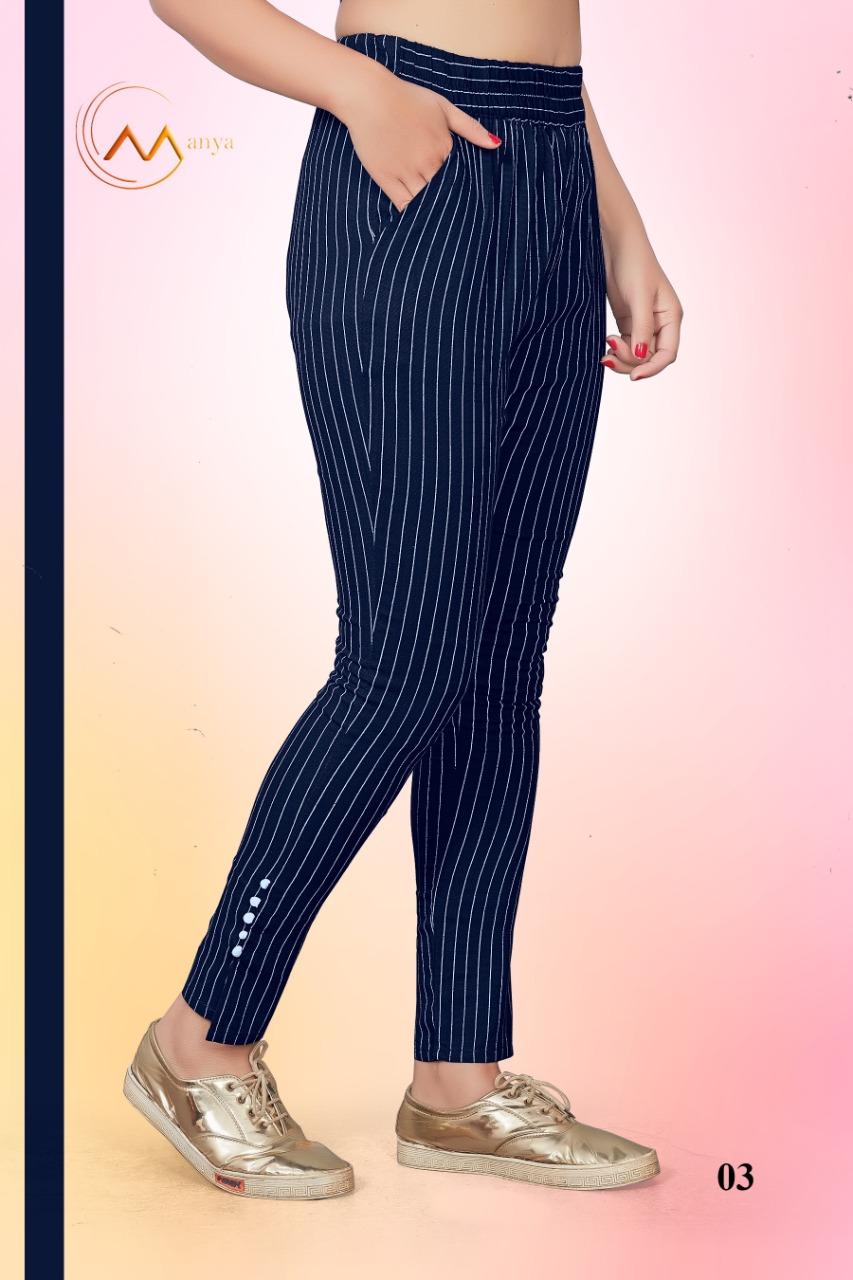 Mansi Fashion Kc Part 5 Rayon Stretchable Pant Collection