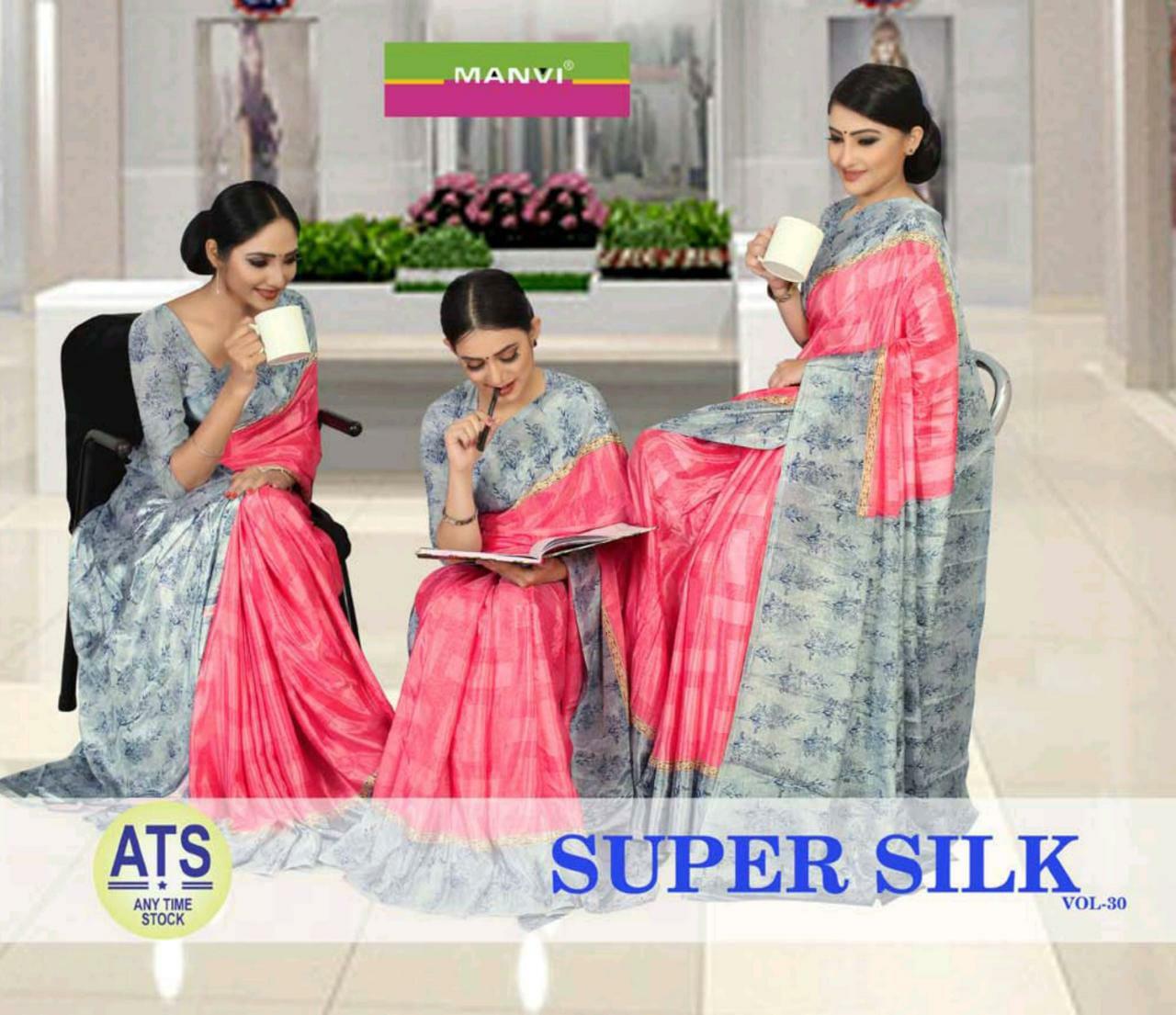 Manvi 3025-3050 Series Super Silk Vol 30 Fancy Uniform Special Saree Collection