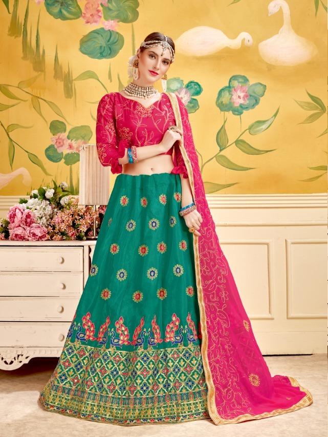 Mayura By Sanskar Style Silk Designer Fancy Lehanga