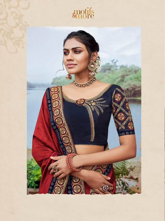 Motifs And More Present Vol 11 Series 11201-11216 Fancy Rich Saree Collection