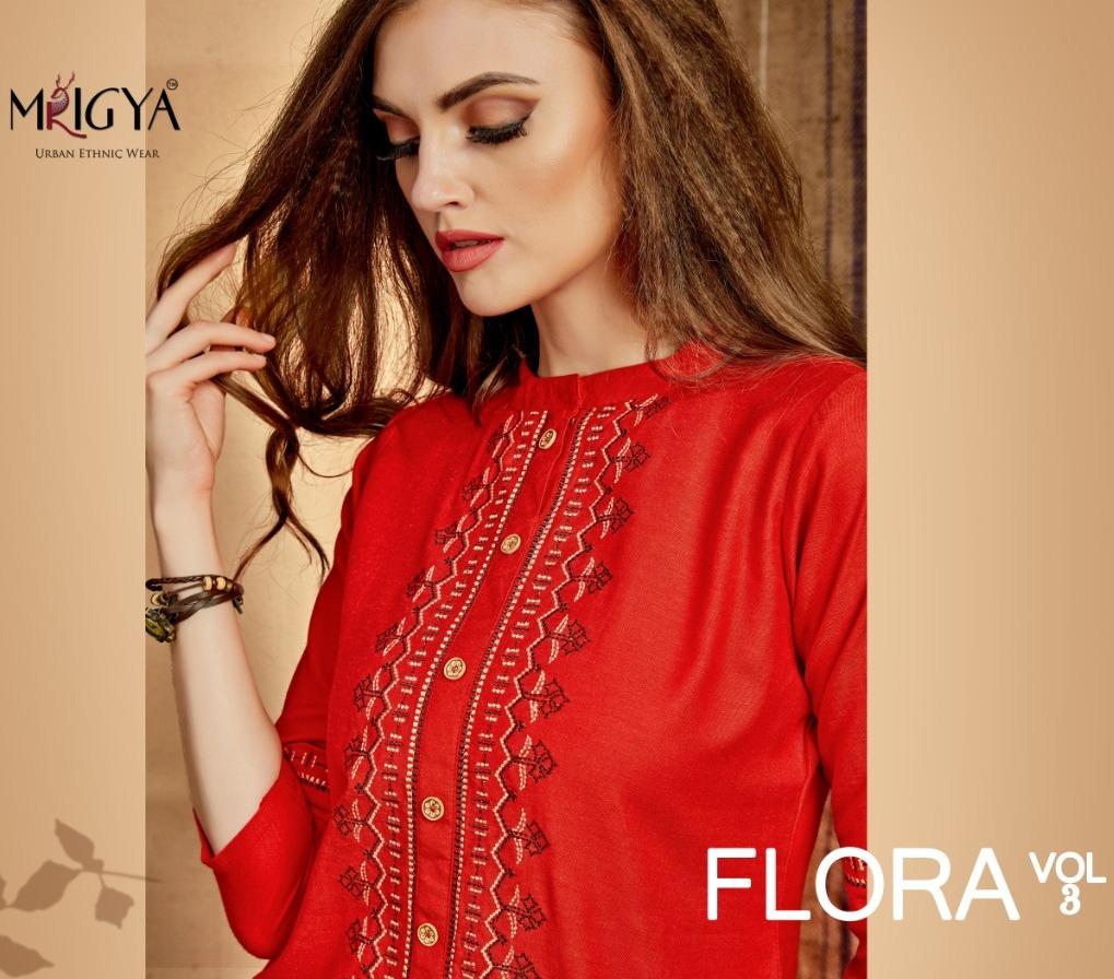 Mrigya Flora Vol 3 Rayon Linen Short Top Collection Buy Best Price
