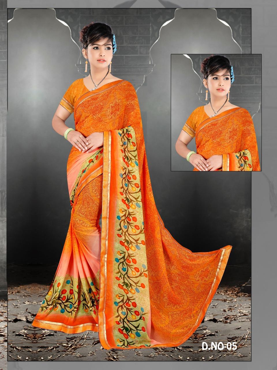 Weightless Printed Saree By Vedam Designer Saree Cheap Rate