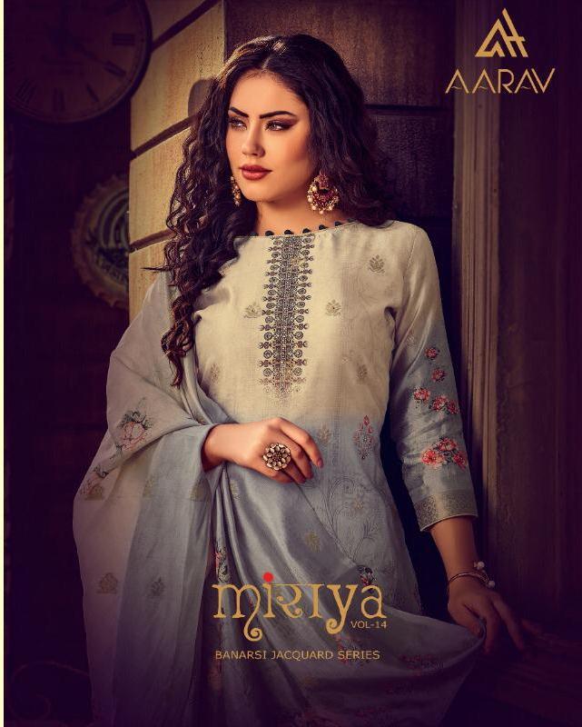 Aarav Present Miraya Vol 14 Banarasi Jacquard Digital Printed Salwar Suit
