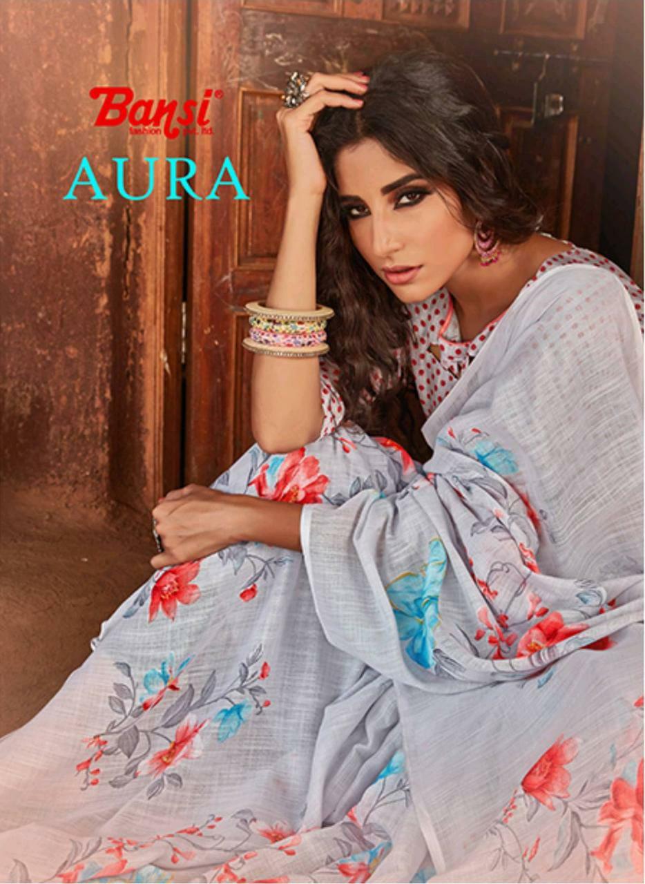 Bansi Fashion Aura Linen Summer Special Saree For Best Price
