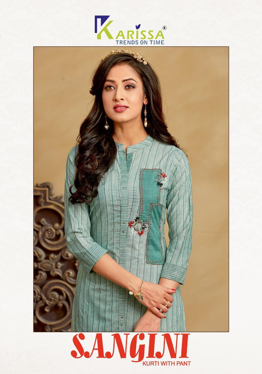 Karissa Present Sangini Cotton Top With Pant Pair Collection