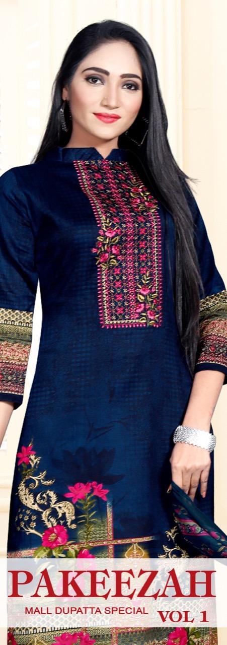Levisha Pakeezah Satin Cotton Casual Dress Materials