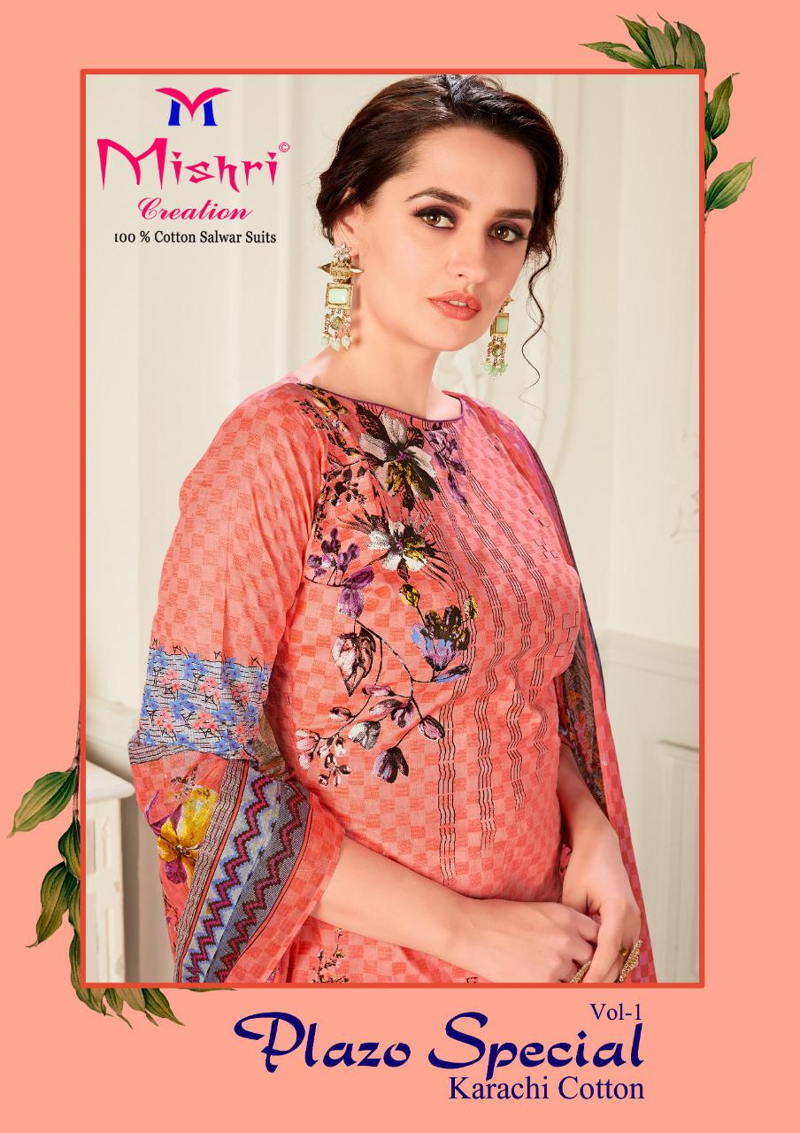Mishri Creation Plazo Special Vol 1 Karachi Style Cotton Stylish Suit