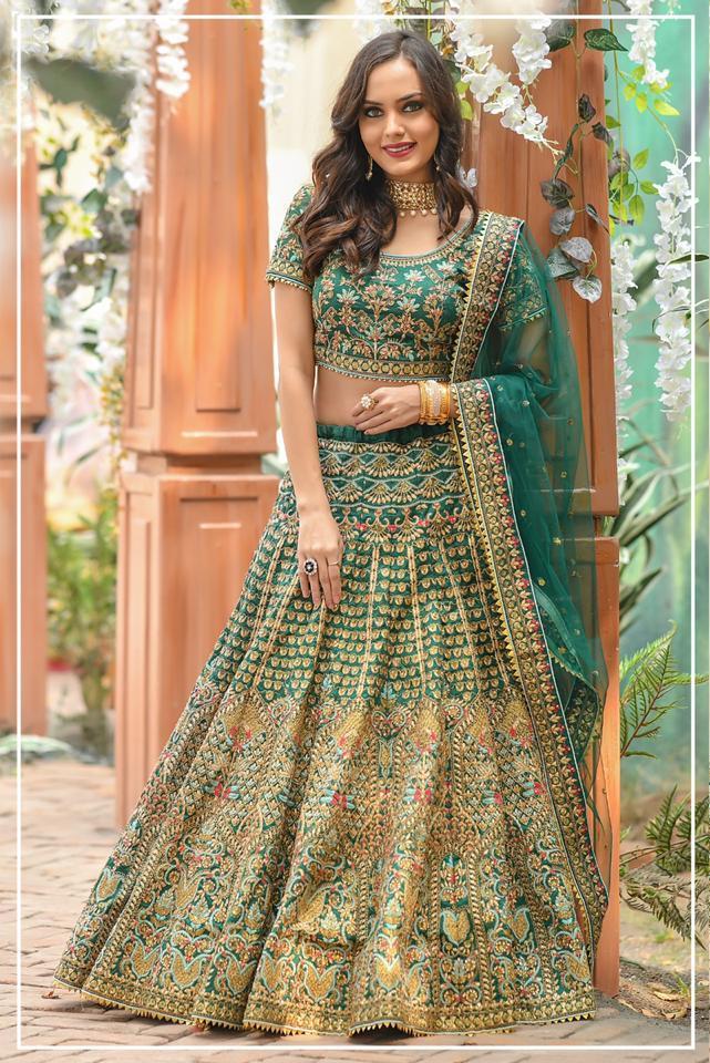 Peafowl Vol 54 Silk Designer Bridal Lehanga Collection