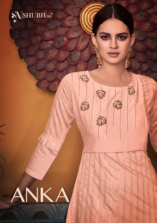 Shubh Nx Anka Viscose Handwork Designer Kurti Online Store