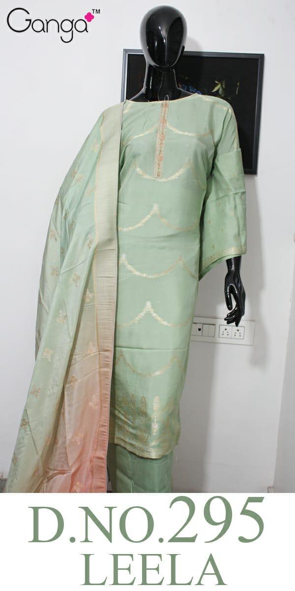 Ganga Leela 295 Russian Silk Four Color Matching Suits