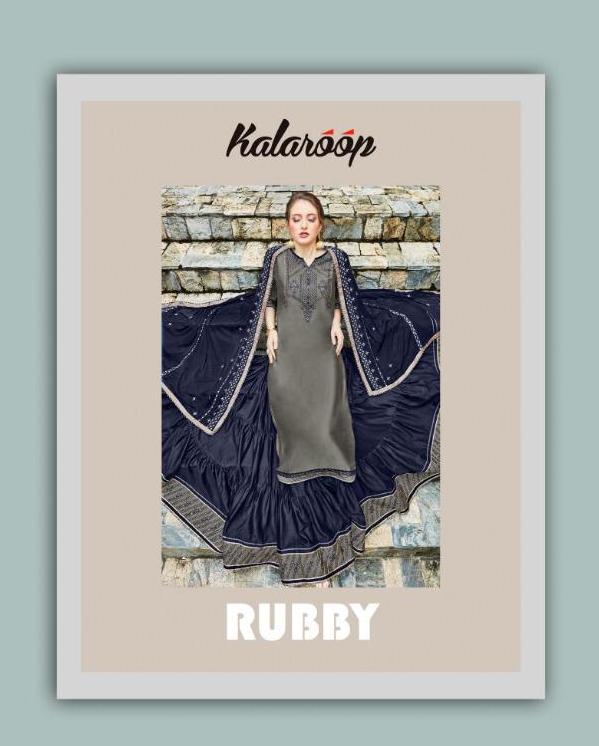 Kalaroop Presnets Ruby By Kajree Readymade Lehenga Style Designer Suits