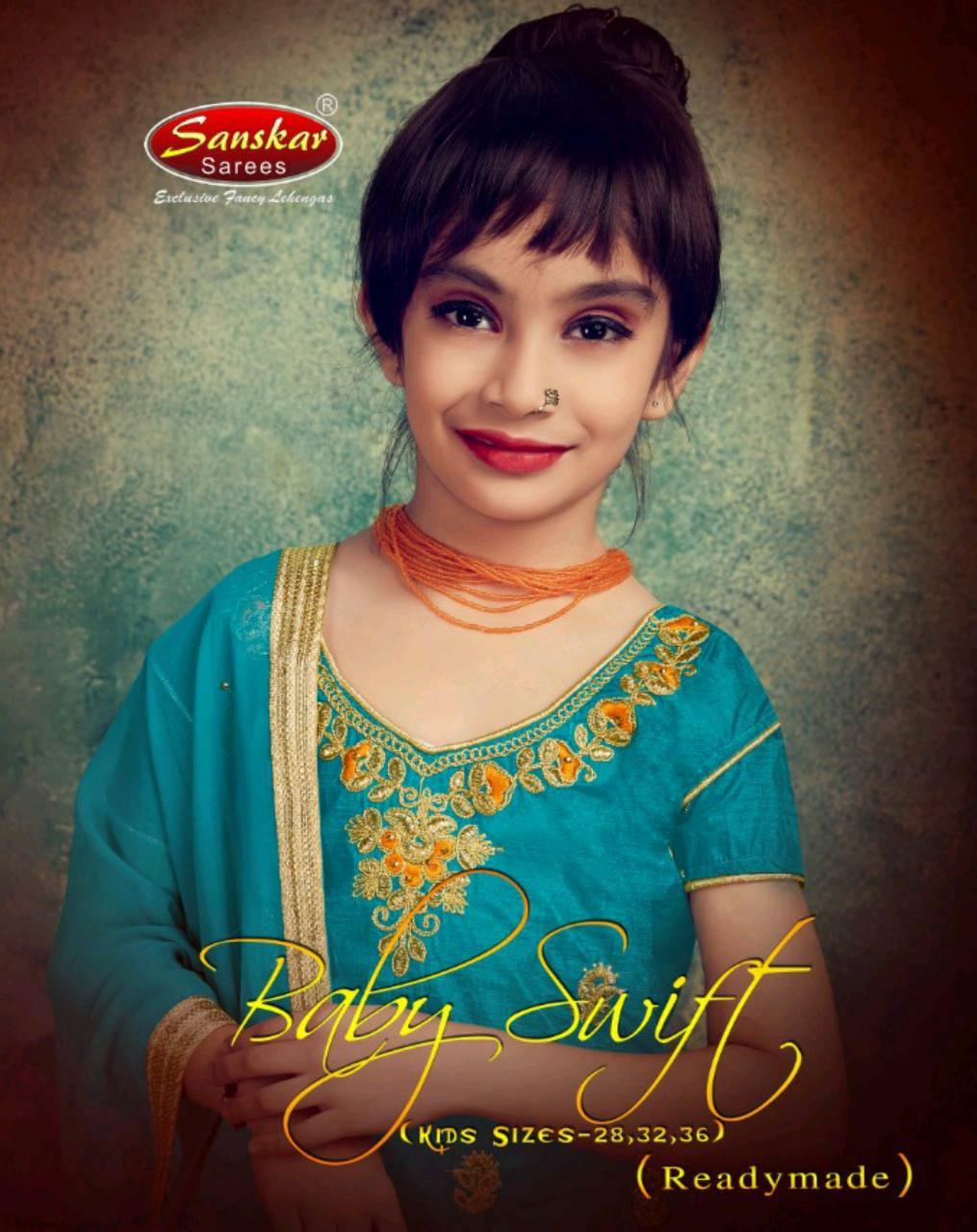 Sanskar Style Baby Swift Silk Child Special Ready Made Lehanga Seller