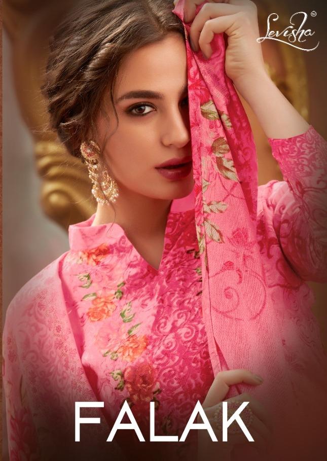 Levisha Falak Satin Cotton Aari Work Suits Designs Collection