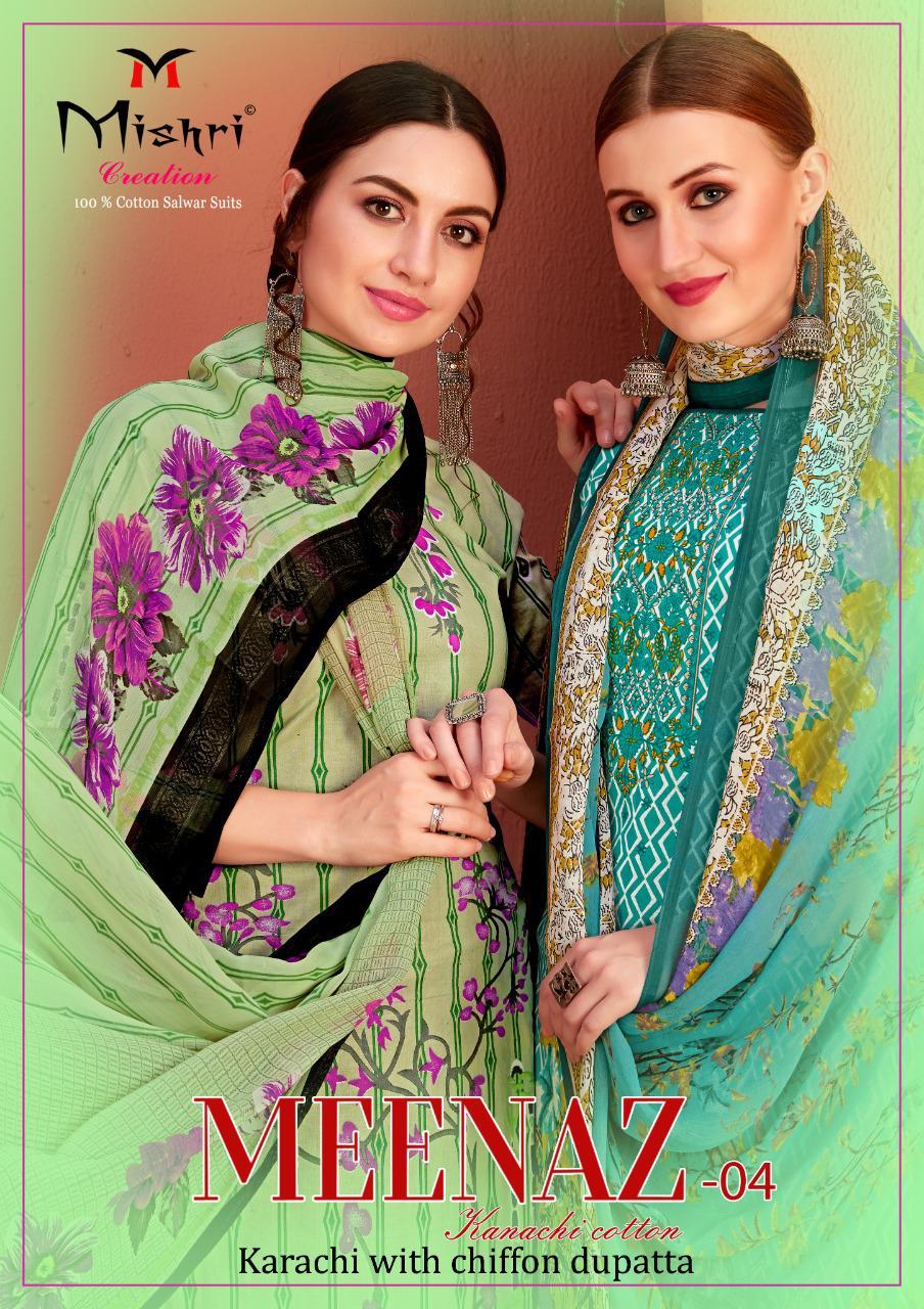 Mishri Creation Meenaz Vol 4 Cotton Casual Wear Fancy Dress Materials