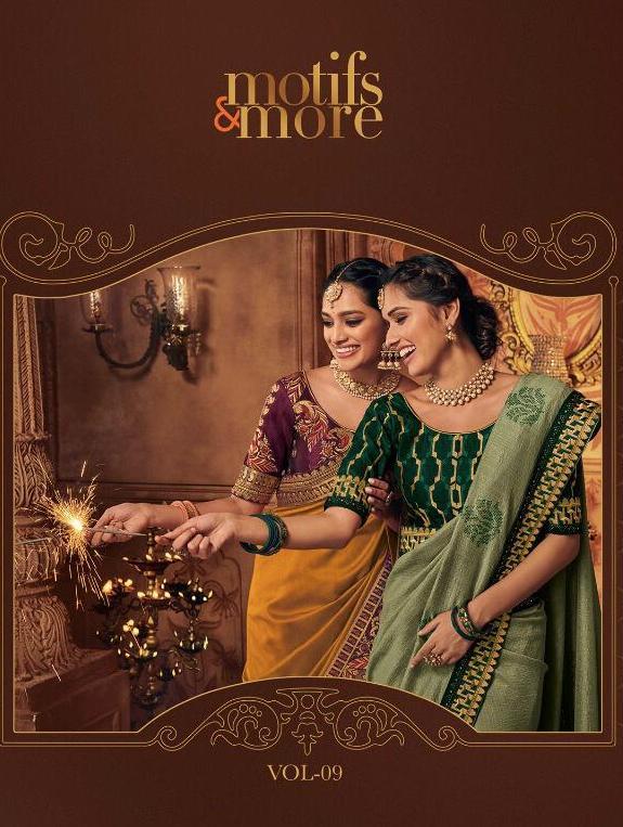 Motifs And More Vol 9 10901-10916 Series Exclusive Designs Of Saris For Diwali 2019